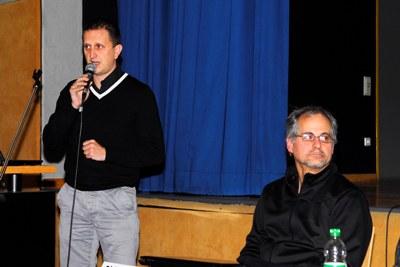 Schatzmeister Karsten Uhlmann erstattet Bericht zur finanziellen Situation des Vereins